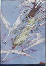 "The Wild Swans: ""The whole day they flew onward through the air."""