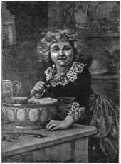 Girl with a mixing bowl