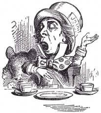 'Of course you don't!' the Hatter said, tossing his head contemptuously. 'I dare say you never even spoke to Time!'